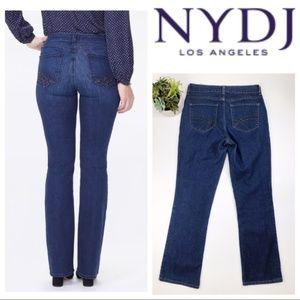 NYDJ Boot Cut Studded Pocket High Rise Jeans